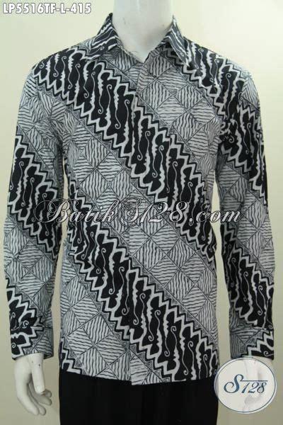 Kemeja Pria Spark Lp Putih kemeja batik hitam putih kwalitas mewah proses tulis jual baju batik onine istimewa lengan