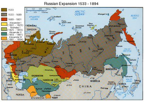 russian empire map mapsontheweb russian expansion 1533 1894 war
