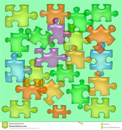 How To Make A Paper Puzzle - jelly puzzle paper stock illustration image of give