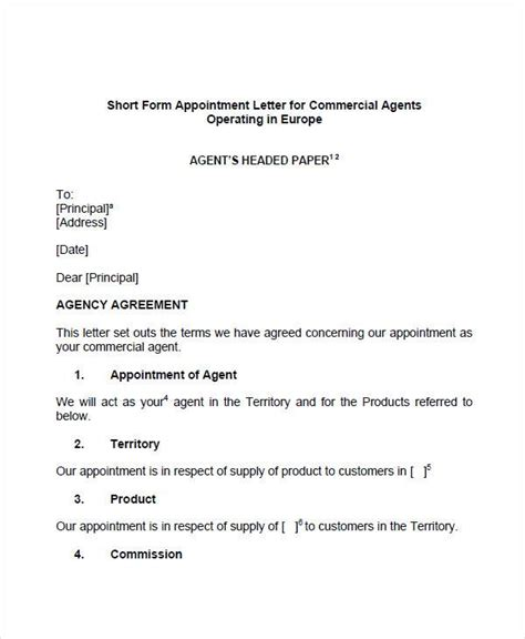 Appointment Letter Template Uk Sle Appointment Letters 10 Best Appointment