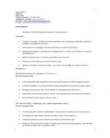 Sle Resume For Applying Ms In Us by Receptionist Resume Templates Resume Templates And