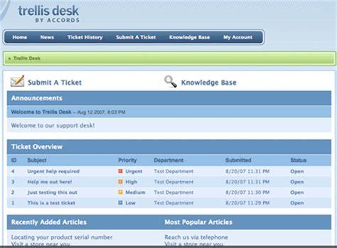 trellis desk free help desk software