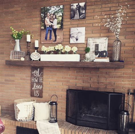 decorating  offset fireplace decor   fall home