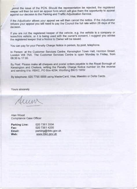 Appeal Letter Yellow Line Fightback Forums Gt Bank Single Yellow Line