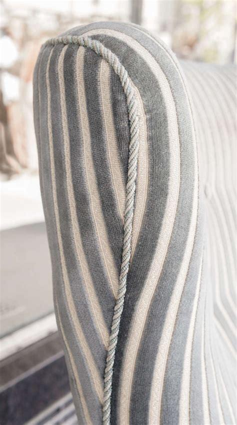 striped fabric armchairs pair of danish modern armchairs in striped fabric at 1stdibs