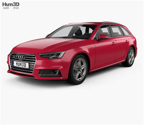 Audi Avant A4 S Line by Audi A4 S Line B9 Avant 2016 3d Model Humster3d