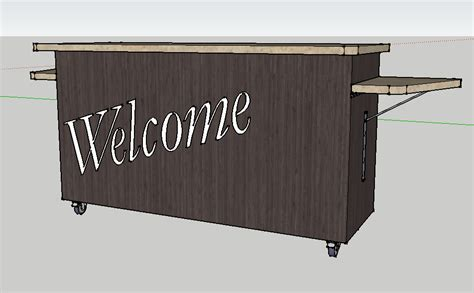 Check In Desk Furniture by 6 Foot Portable Welcome Desk Envisionary Images