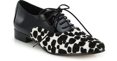 michael kors lottie cheetah print calf hair patent