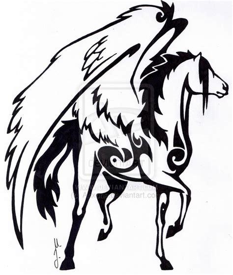 imagenes de unicornios tribales pegasus tattoos on pinterest