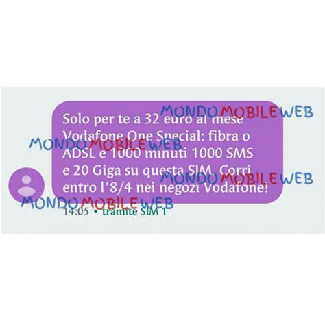 attivare mobile vodafone vodafone sms ad alcuni clienti selezionati per attivare