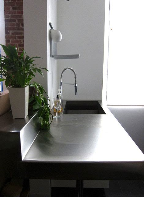 Plate Steel Countertop steel plate countertop mmmm home ideas steel plate and bathroom