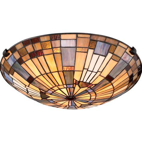 tiffany flush mount ceiling light quoizel tfik1617va inglenook tiffany flush mount ceiling