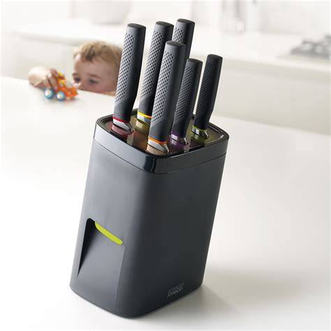 House Kitchen Design Software childproof self locking universal knife block the green head