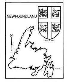 canada day coloring page newfoundland map coat of