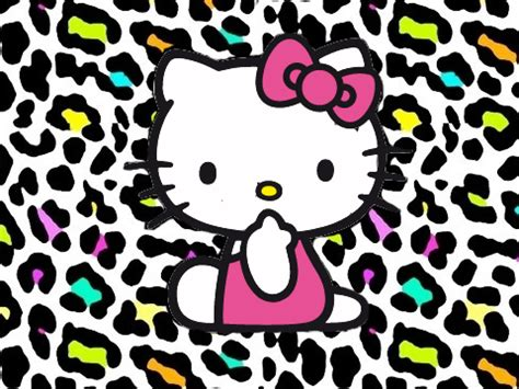 imagenes de hello kitty en animal print love wallies animal print hello kitty love