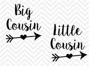 big cousin little cousin svg and dxf cut file png