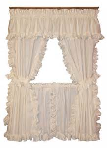Cape Cod Kitchen Curtains Cape Cod Framed Ruffled Curtains W Ties