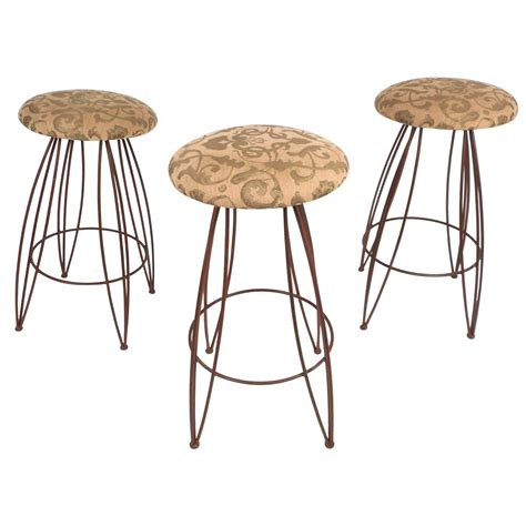 unique bar stools for sale unique set of mid century modern wrought iron bar stools
