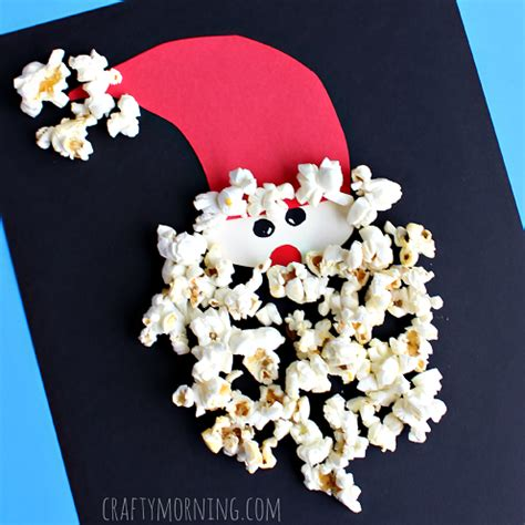 santa claus crafts for popcorn santa claus craft for crafty morning
