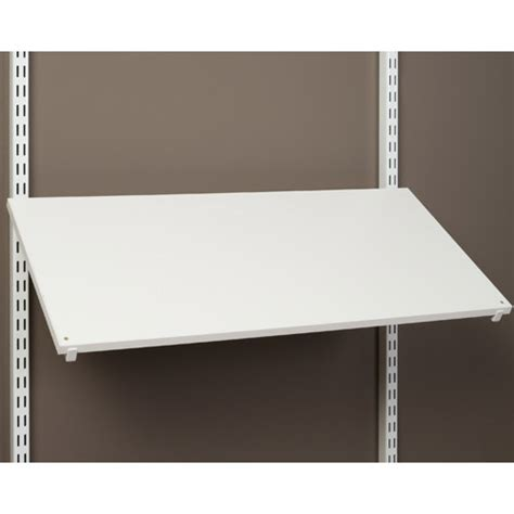 30 inch pre drilled shoe shelf white in freedomrail