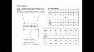 Size chart denim pants for men s amp women s youtube