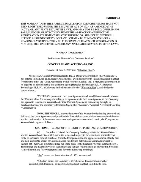 section 11 securities act of 1933 contract by concert pharmaceuticals inc