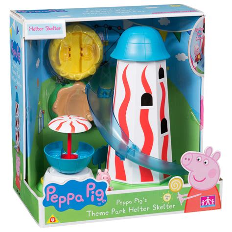 Bookcase With Bins Peppa Pig Theme Park Helter Skelter Animal Toys Amp Play Sets