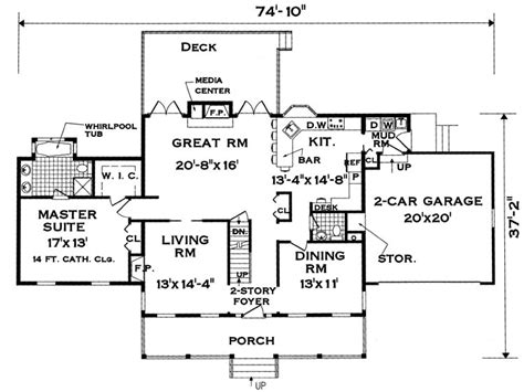 large family floor plans perfect for a large family 7004 5 bedrooms and 2 baths