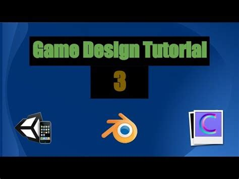 game design vs animation game design tutorial 3 unity3d blender and crazybump