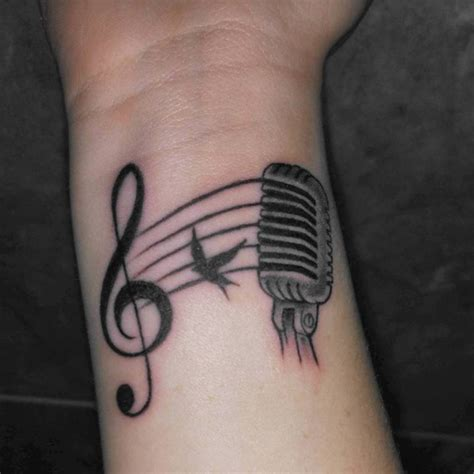 small microphone tattoos 52 tattoos on wrist