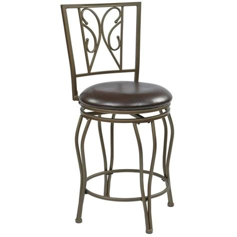 office bar stools cosmo 24 25 quot metal swivel counter stool in espresso