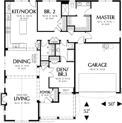 Single Cottage Plan With Two Car Garage 69117am