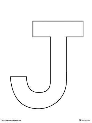 Uppercase Letter J Template Printable | VPK | Alphabet ... J