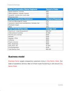 food cart business plan template food truck business plan sle pages black box business