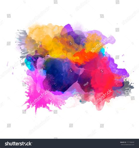 abstract vector watercolor palette of blue and orange colors mix color background vector