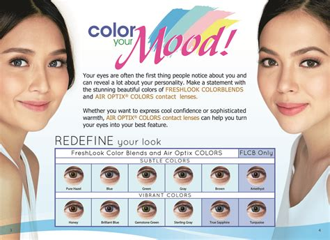 free colored contacts sle air optix contact lenses color chart for a limited time