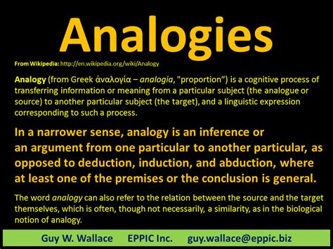 exle of analogy use analogies to connect to prior knowledge eppic pursuing performance