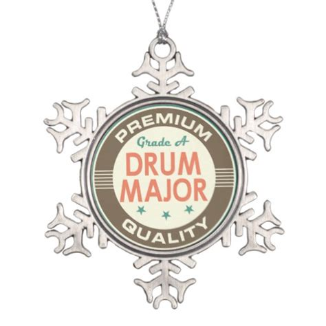 drum major music band gift snowflake pewter christmas