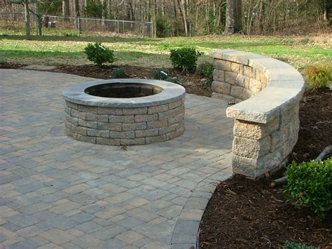 small yard landscaping ideas 5682 paver patio with built in fireplace in stafford virginia