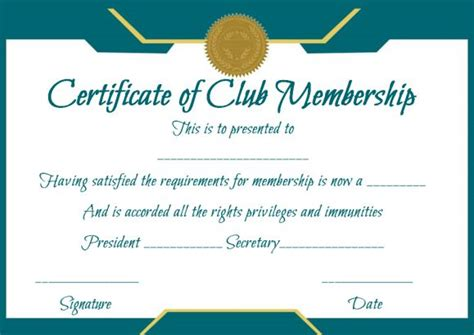 free club membership card templates free membership certificates 14 templates in word format