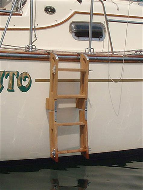wooden boat ladder hardware boarding ladders for sailboats yachts boats trawlers