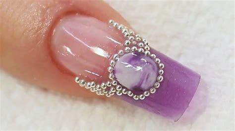 nail art tutorial naio purple jewel acrylic nail art tutorial video by naio nails