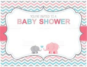 elephant baby shower invitation stock vector 501279519