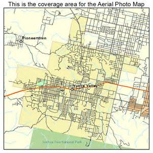 aerial photography map of yucca valley ca california