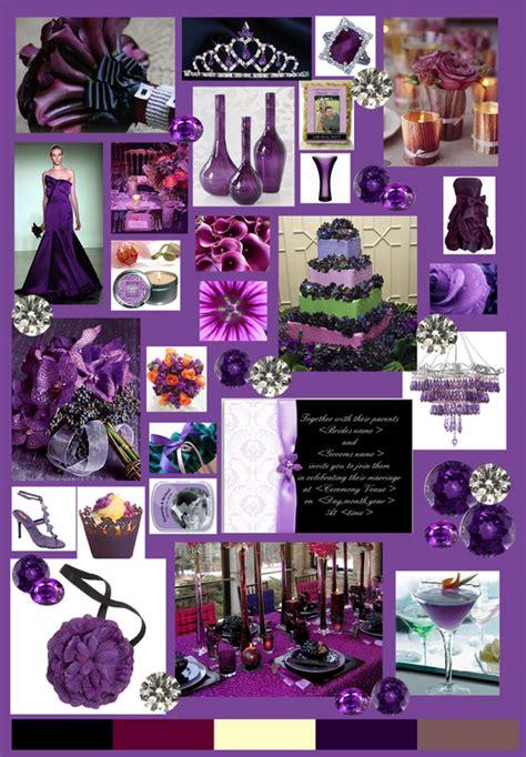 themes in colour purple kristin lilla bryllup