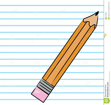 pencil writing on paper notebook paper and pencil clipart clipartxtras