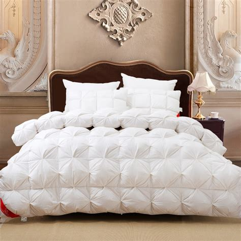fluffy bedding new white goose down quilts comforter bedding sets warm