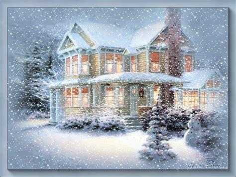 animated christmas wallpaper snow falling wallpapersafari