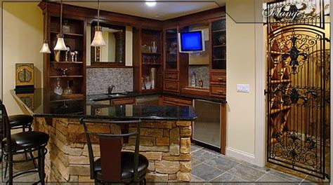 basement corner bar for the home
