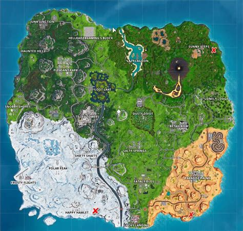 fortnite giant face challenge locations game life
